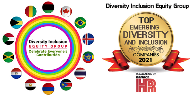 DIEG Logo & Top Emerging Diversity And Inclusion Company Award